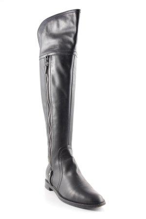 Sergio Rossi Absatz Stiefel schwarz-silberfarben Casual-Look