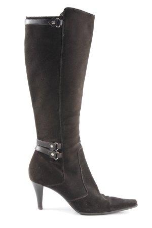 Sergio Rossi Absatz Stiefel schwarzbraun Elegant