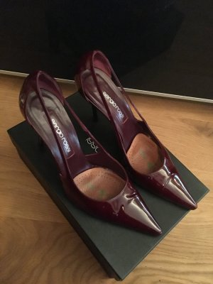 Sergio Rossi bordeaux Lackleder Pumps 38,5