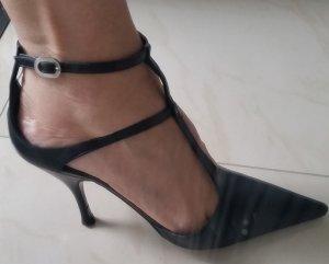SERGIO ROSSI Elegante Luxus Damen Schuhe Pumps 38,5 Echtleder schwarz