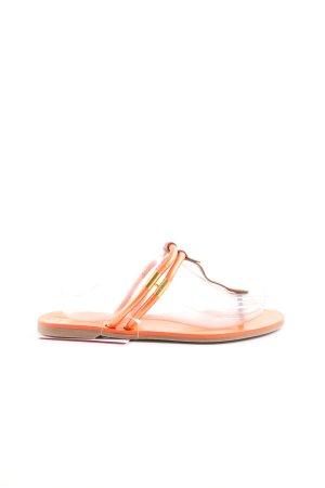 Sergio Rossi Flip-Flop Sandals light orange casual look