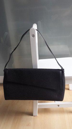 Sergio Rossi Handtasche/Wolle&Leder