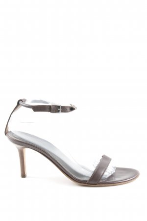Sergio Rossi High Heel Sandaletten braun Business-Look