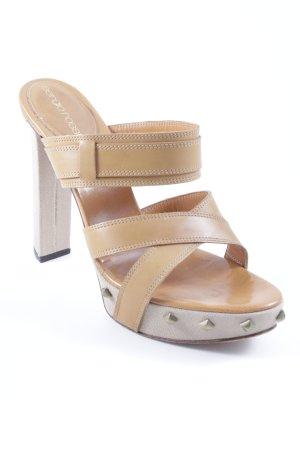 Sergio Rossi High Heel Sandaletten creme-hellbraun Casual-Look