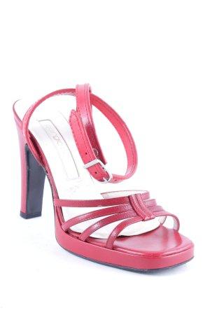 Sergio Rossi High Heel Sandaletten dunkelrot Elegant