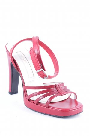 Sergio Rossi Hoge hakken sandalen donkerrood elegant
