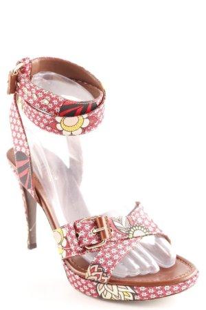 Sergio Rossi High Heel Sandaletten florales Muster klassischer Stil