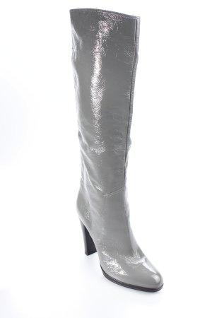 Sergio Rossi High Heel Stiefel grau extravaganter Stil