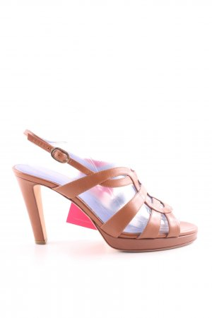 Sergio Rossi High Heels braun Casual-Look