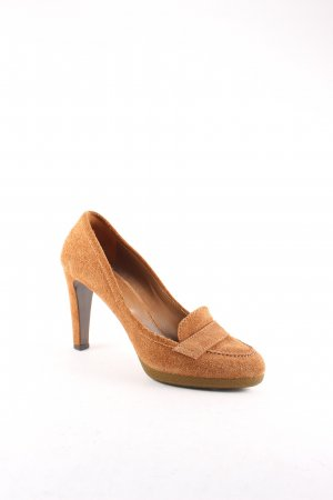 Sergio Rossi High Heels cognac College-Look