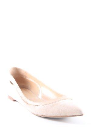 Sergio Rossi Patent Leather Ballerinas cream-nude elegant