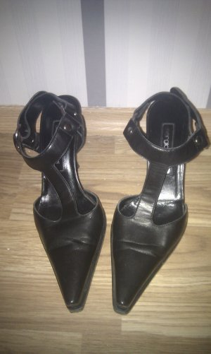 Sergio Rossi High-Heeled Sandals black brown leather