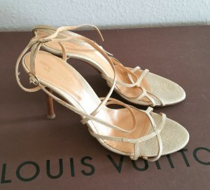 Sergio Rossi High Heel Sandal gold-colored-brown