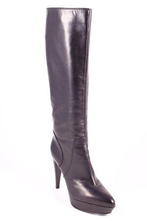 Sergio Rossi Plateau-Stiefel schwarz Lolita-Look