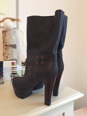 SERGIO ROSSI Plateau Stiefelette High Heels 38