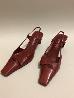 Sergio Rossi High Heel Sandal dark red