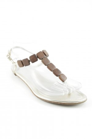 Sergio Rossi Strapped High-Heeled Sandals brown-silver-colored beach look