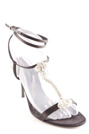Sergio Rossi Riemchen-Sandaletten schwarz Elegant