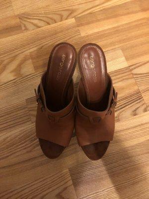 Sergio Rossi Clog Sandals cognac-coloured-brown