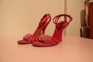 SERGIO ROSSI Sandalen aus Wildleder in Pink, Größe 35