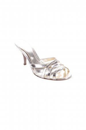 Sergio Rossi High-Heeled Sandals gold-colored wet-look