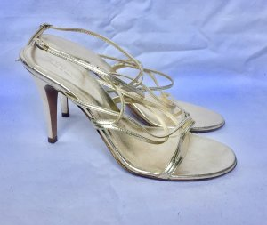 Sergio Rossi High Heel Sandal gold-colored leather