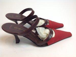 Sergio Rossi Schuhe Gr. 38 braun rot
