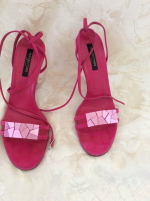 Sergio Rossi Strapped High-Heeled Sandals pink leather
