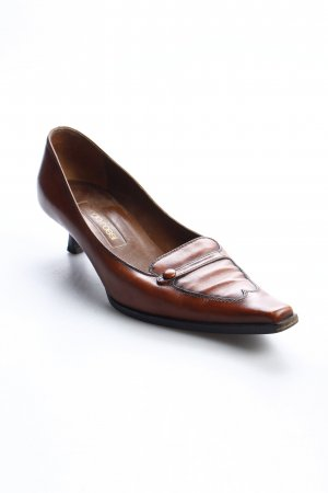 Sergio Rossi Spitz-Pumps cognac Casual-Look