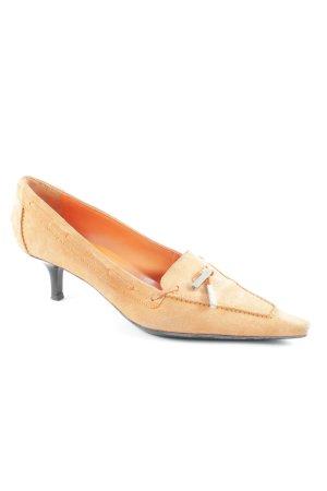 Sergio Rossi Spitz-Pumps orange Street-Fashion-Look