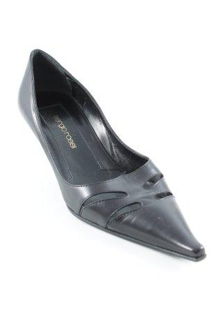 Sergio Rossi Spitz-Pumps schwarz klassischer Stil
