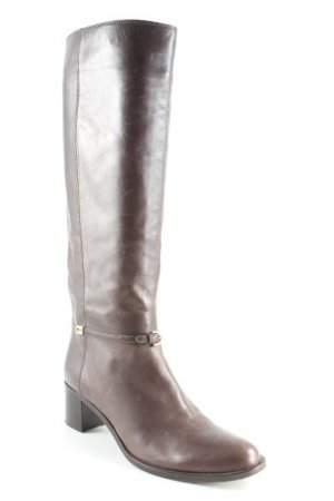 Sergio Rossi Stretch Boots dark brown elegant