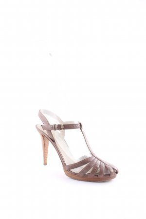 Sergio Rossi T-Strap Sandals beige-sand brown party style