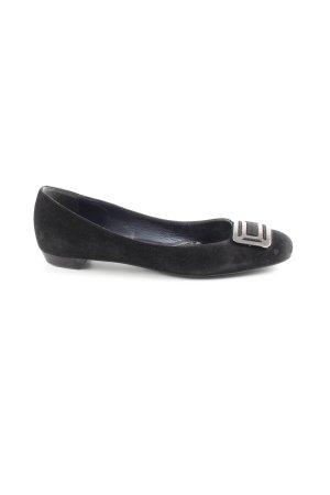 Sergio Rossi Loafers zwart-zilver Jaren 90 stijl