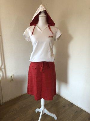 Sergio tacchini Falda de lino rojo oscuro