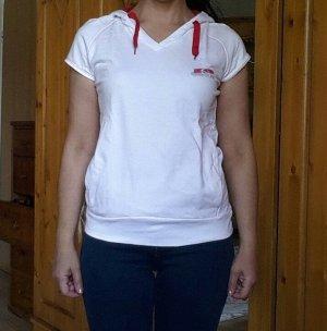 Sergio tacchini Top à capuche blanc-rouge foncé