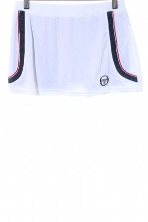 Sergio tacchini Sporthose weiß-dunkelblau sportlicher Stil