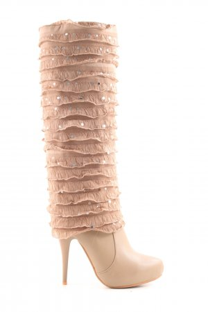 Sergio Todzi Heel Boots nude extravagant style