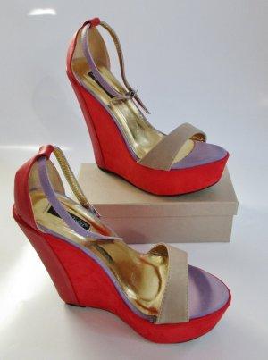 Sergio Todzi Plateauzool sandalen veelkleurig Imitatie leer