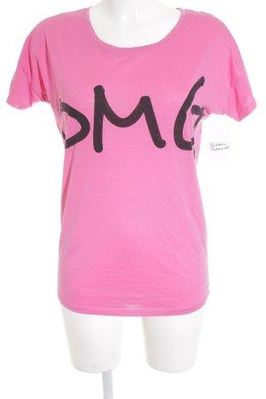 Serious sally T-Shirt pink Schriftzug gedruckt Street-Fashion-Look