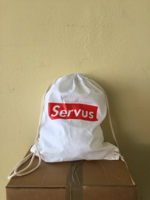 Canvas Bag white-red cotton