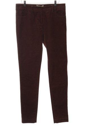 Sessun Pantalon en velours côtelé rouge style classique