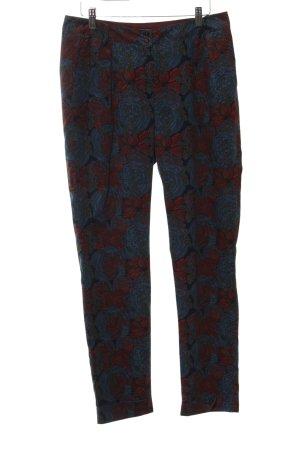 Sessun Pantalone di velluto a coste motivo floreale stile stravagante