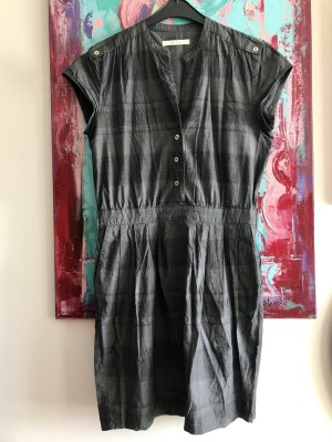 Sessùn EtuiKleid grau-blau dezent gemustert casual Business preppy Blogger Cotton M 36/38