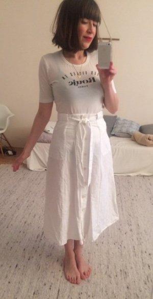 Sessun Jupe taille haute blanc viscose