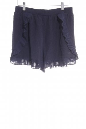 Sessun Short taille haute bleu foncé motif de tache Look de plage