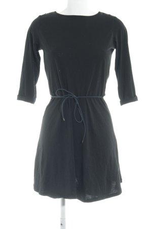 Sessun Vestido de tela de jersey negro look casual