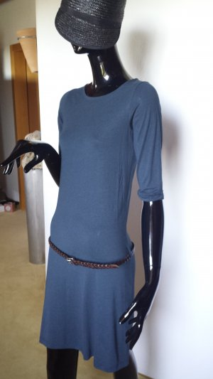 SESSUN Klassiker, graublau-farbenes Kleid, Gr.34