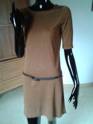 Sessun, Klassiker sehr leichtes Kleid in angenehmen helleren Braun, Gr. 36
