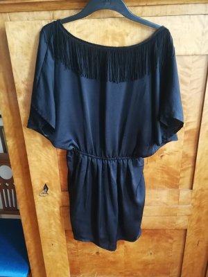 Sessun Kleid schwarz mit Fransen
